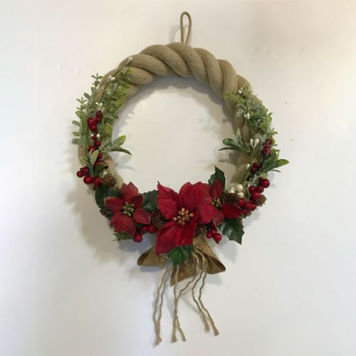 Poinsettia and Berry with Ribbon (large)